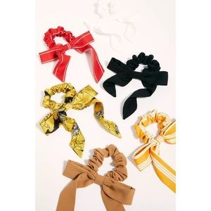 NEW Free People Bow & Scarf Hair Scrunchie Set
